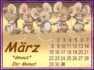 Beckys Kalenderblatt